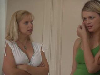 Two Mature Moms Seduce Young Blondie
